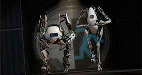 В кооперативном режиме Portal 2 можно играть с разделенным экраном